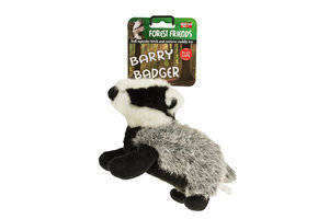 Barry Badger Plush Dog Toy